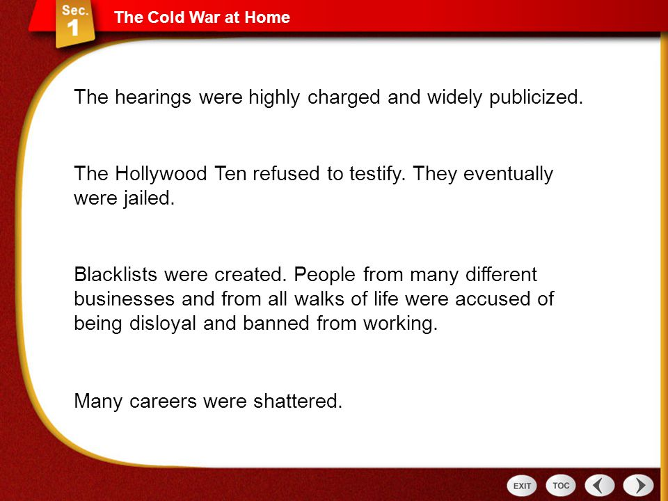 The hearings were highly charged and widely publicized.