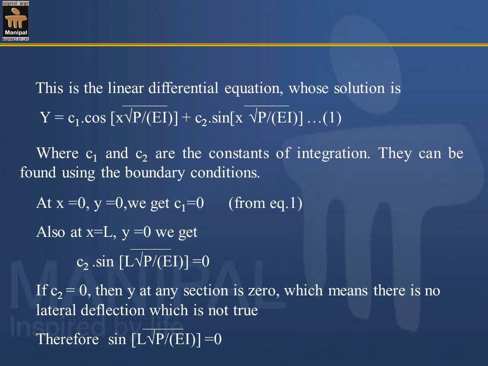 This is the linear differential equation, whose solution is