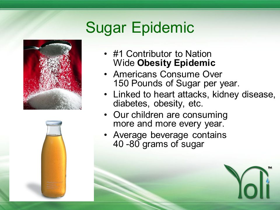 Sugar Epidemic #1 Contributor to Nation Wide Obesity Epidemic