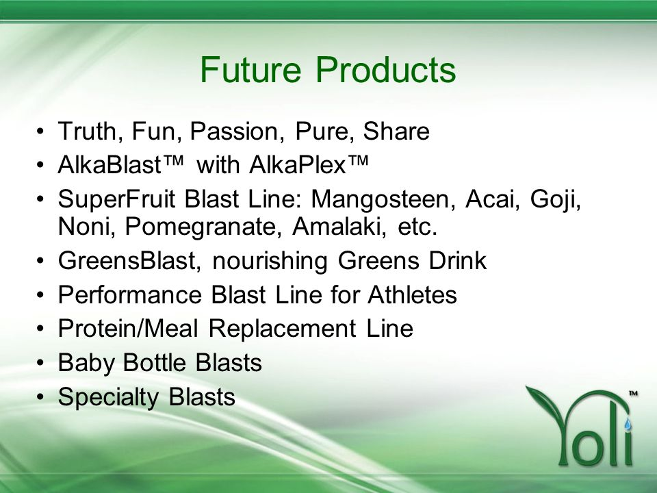 Future Products Truth, Fun, Passion, Pure, Share
