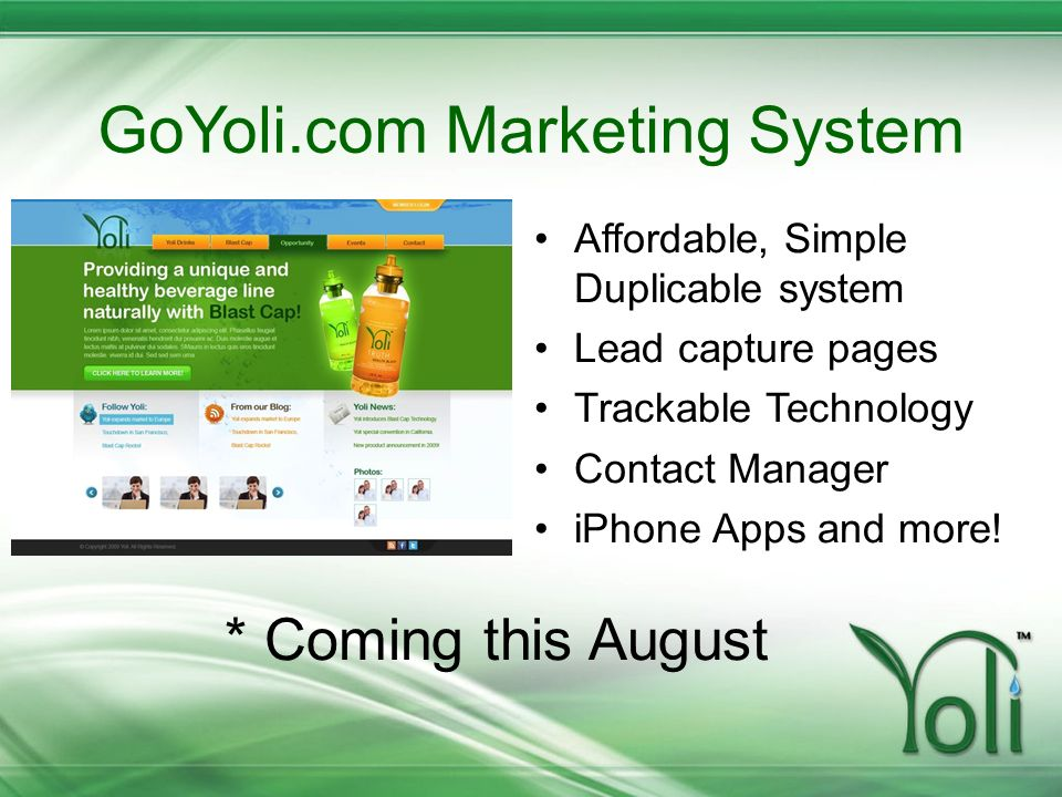 GoYoli.com Marketing System