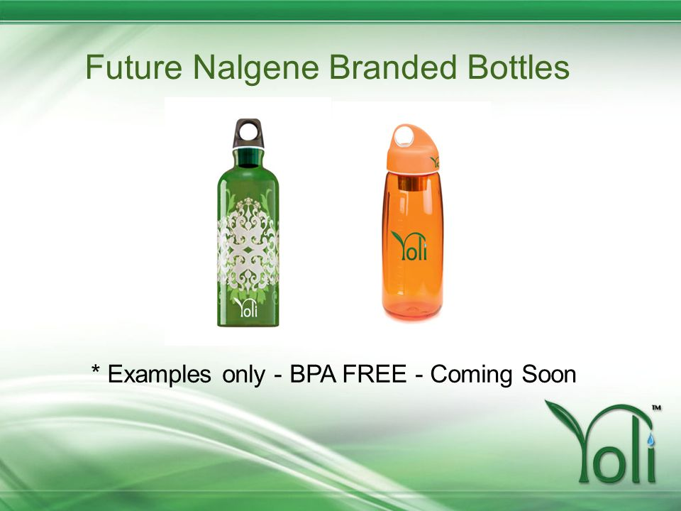Future Nalgene Branded Bottles