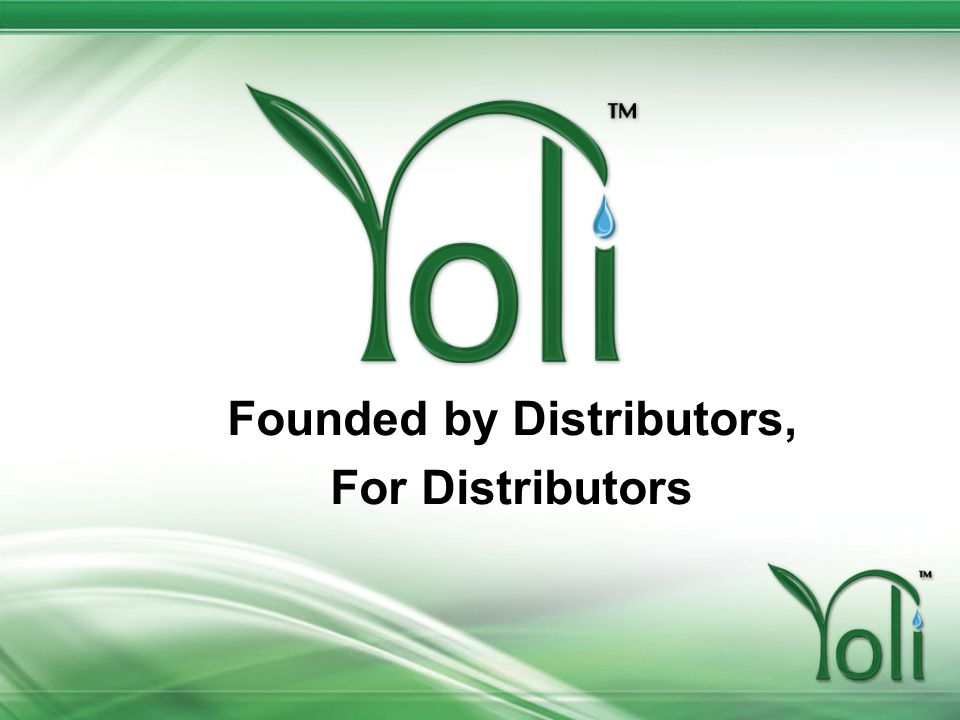 Founded by Distributors,