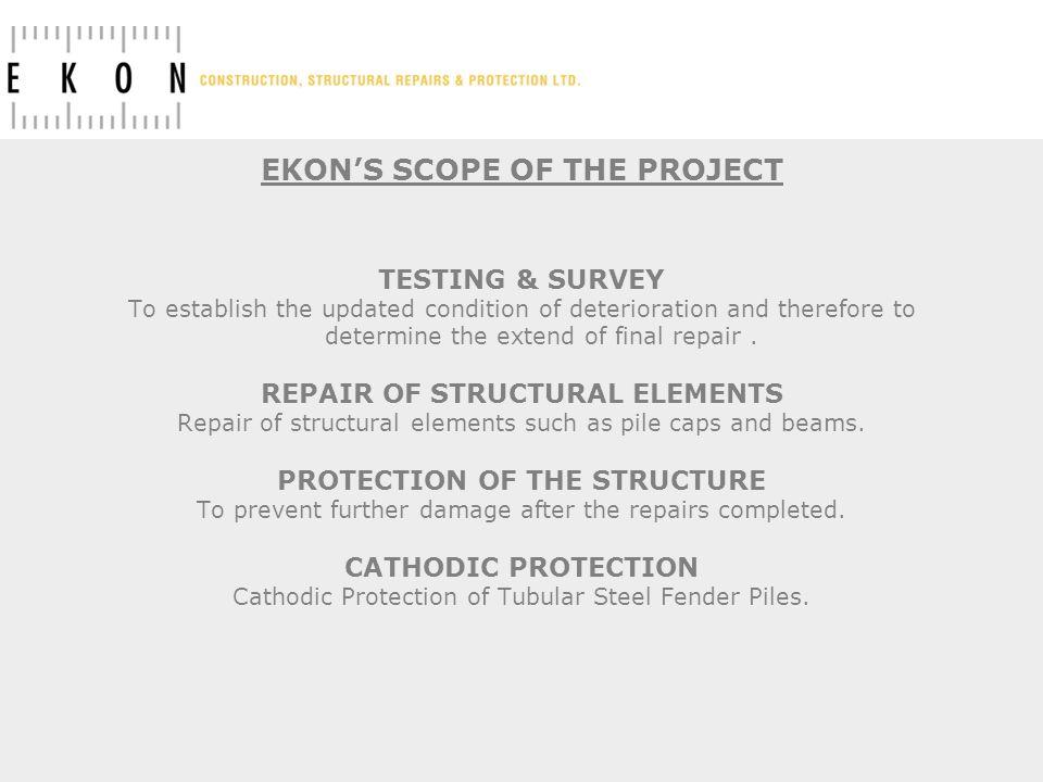 EKON'S SCOPE OF THE PROJECT