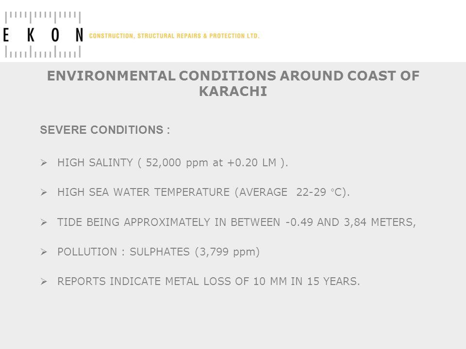 ENVIRONMENTAL CONDITIONS AROUND COAST OF KARACHI