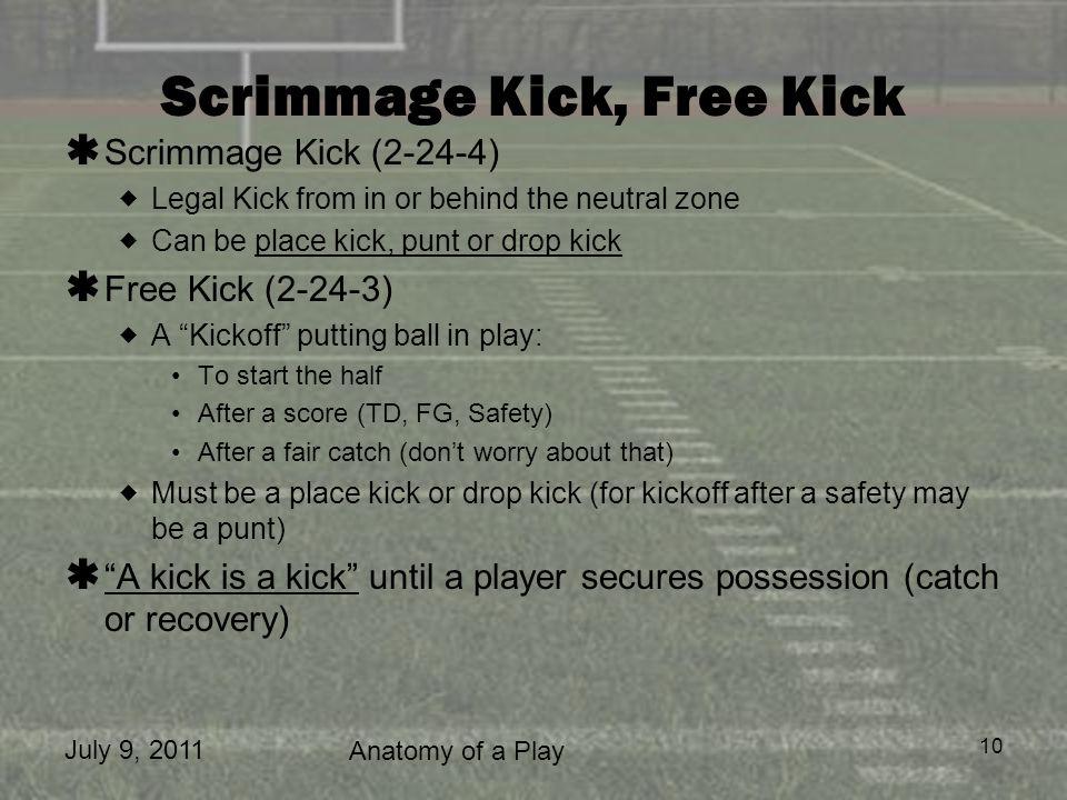 Scrimmage Kick, Free Kick