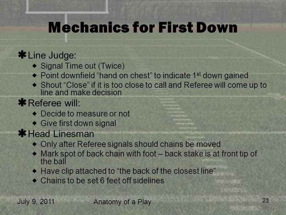 Mechanics for First Down
