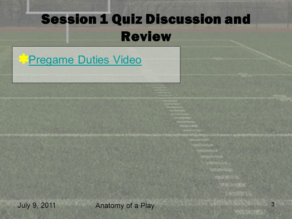 Session 1 Quiz Discussion and Review
