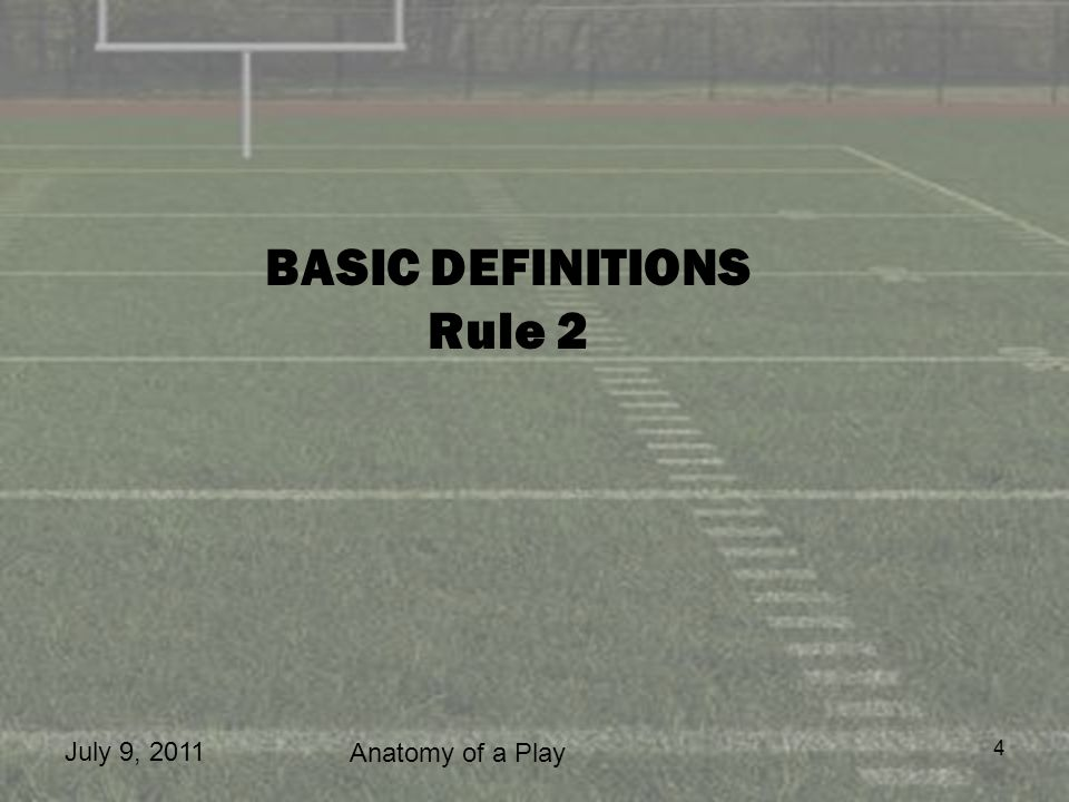 BASIC DEFINITIONS Rule 2