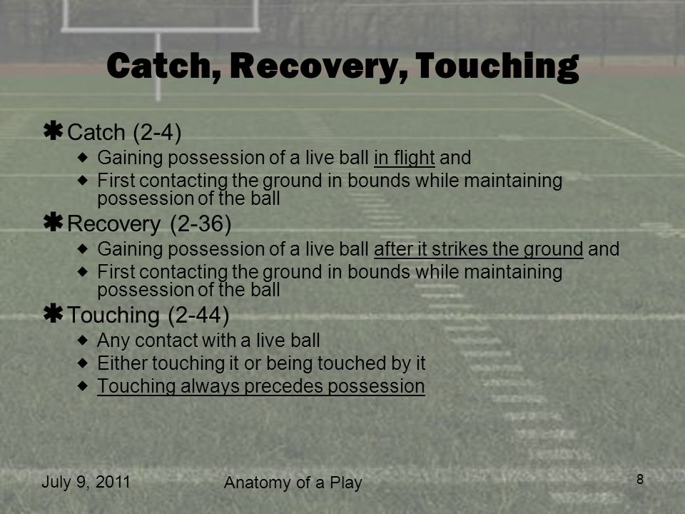 Catch, Recovery, Touching
