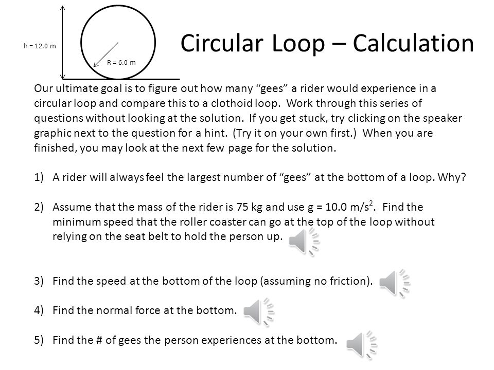 Circular Loop – Calculation