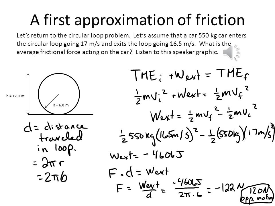 A first approximation of friction