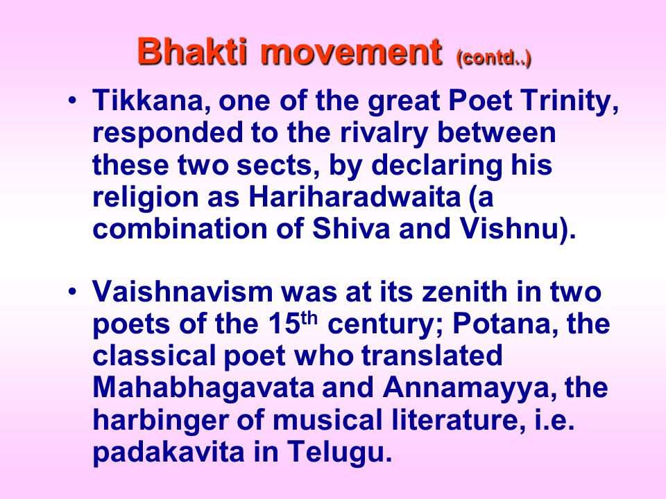 Bhakti movement (contd..)