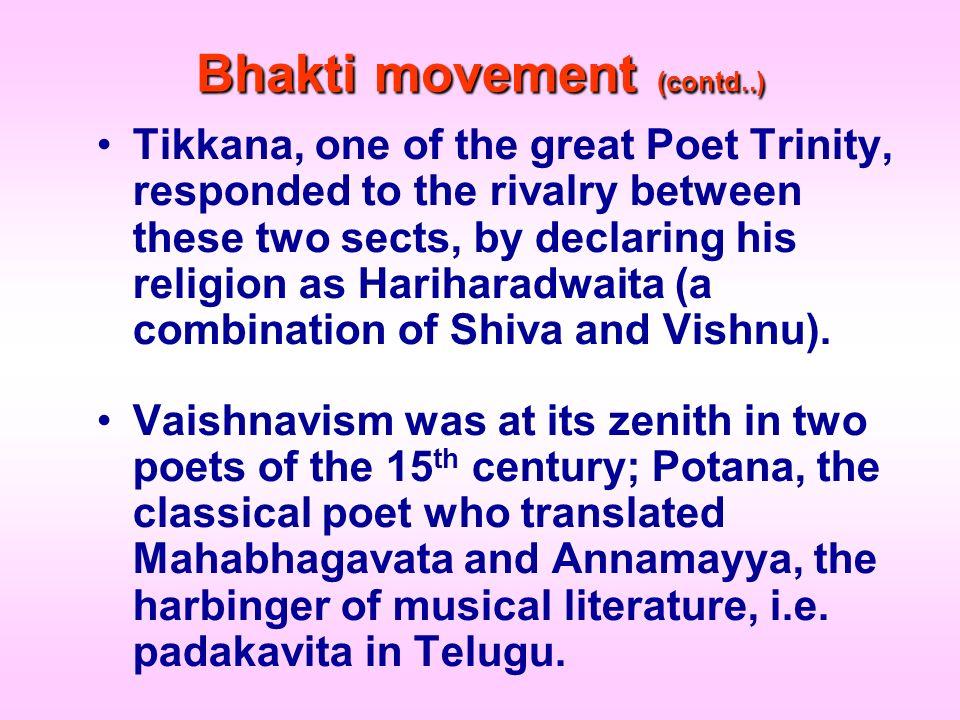 Bhakti movement (contd..)