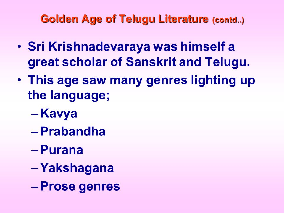Golden Age of Telugu Literature (contd..)
