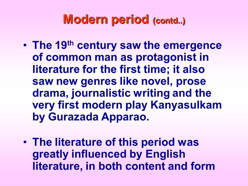 Modern period (contd..)
