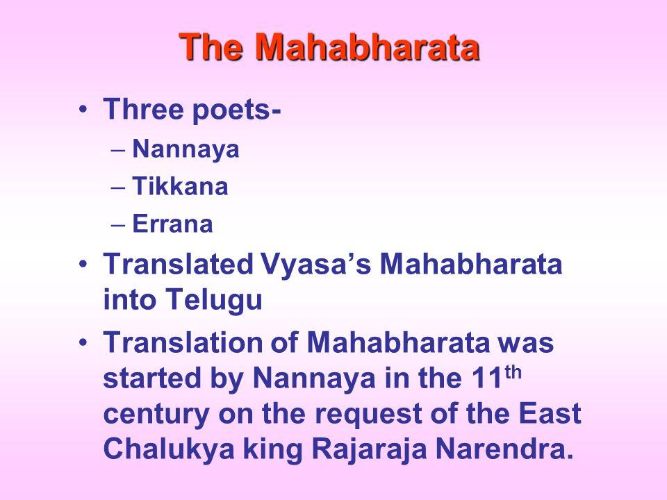 The Mahabharata Three poets-