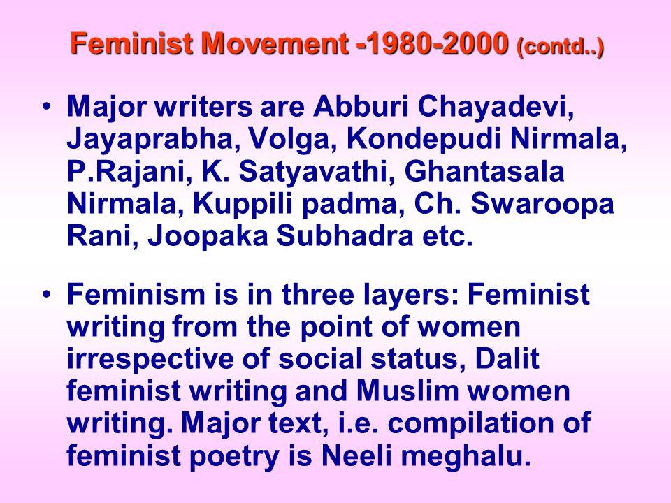 Feminist Movement -1980-2000 (contd..)