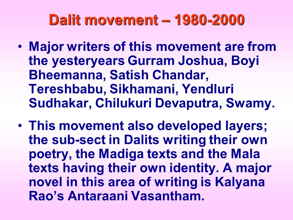 Dalit movement – 1980-2000