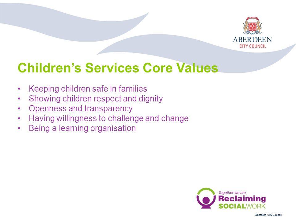 Children's Services Core Values