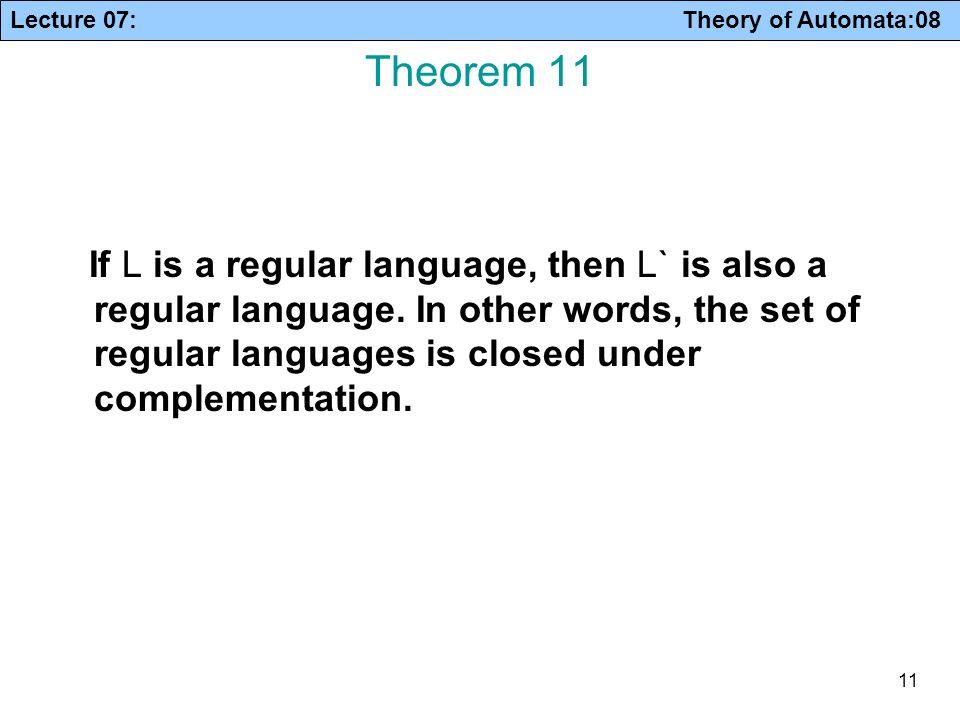 Theorem 11