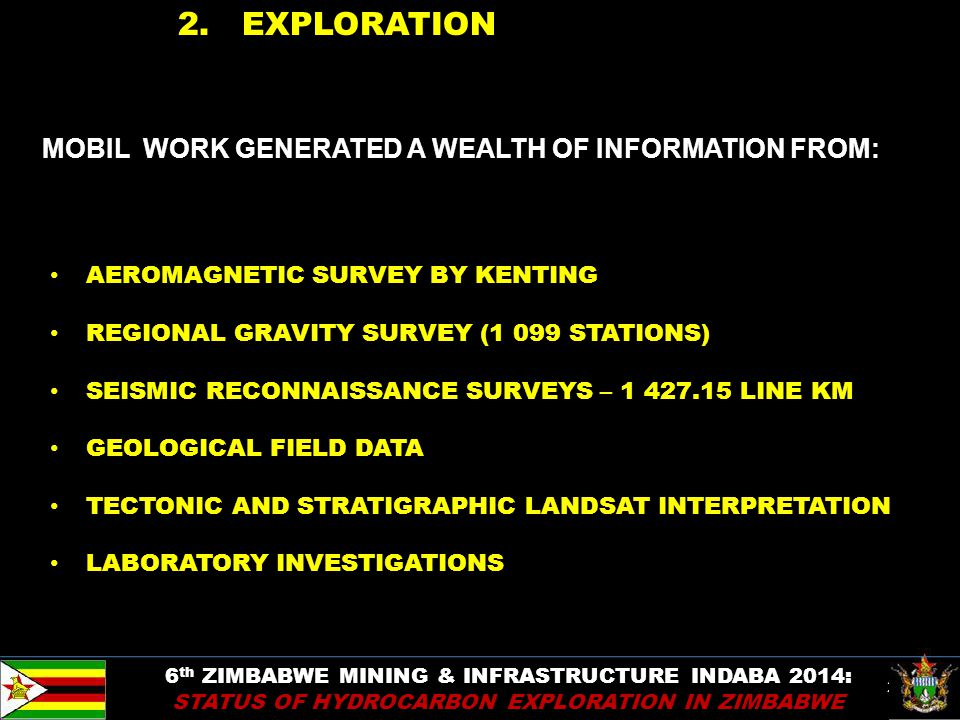 2. EXPLORATION MOBIL WORK GENERATED A WEALTH OF INFORMATION FROM: