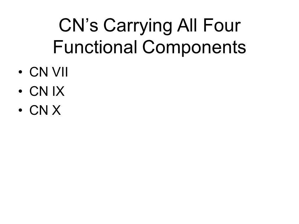 CN's Carrying All Four Functional Components