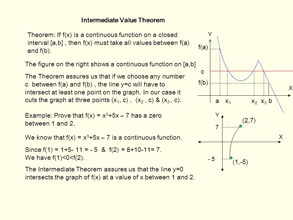 Intermediate value theorem examples and solutions