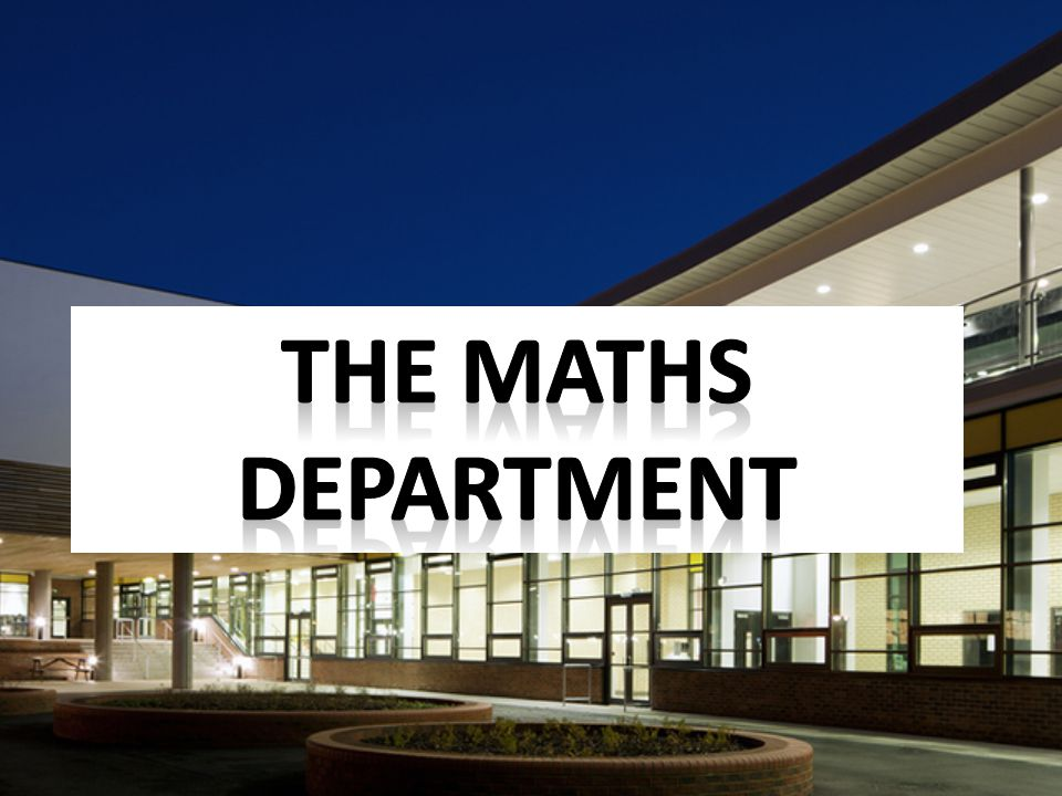 The maths department