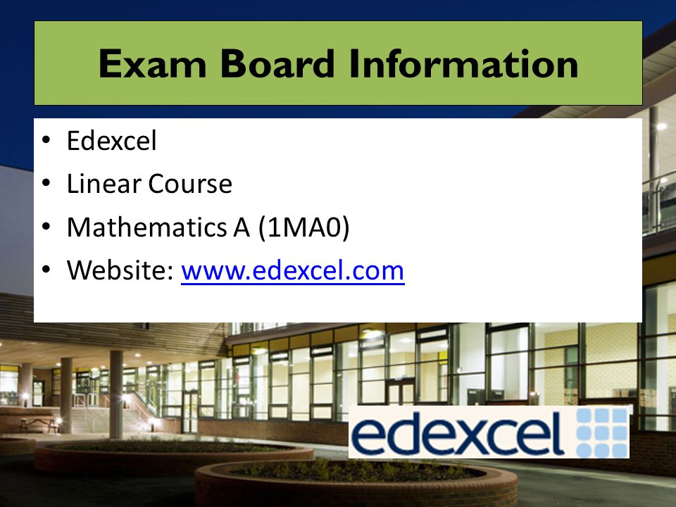 Exam Board Information