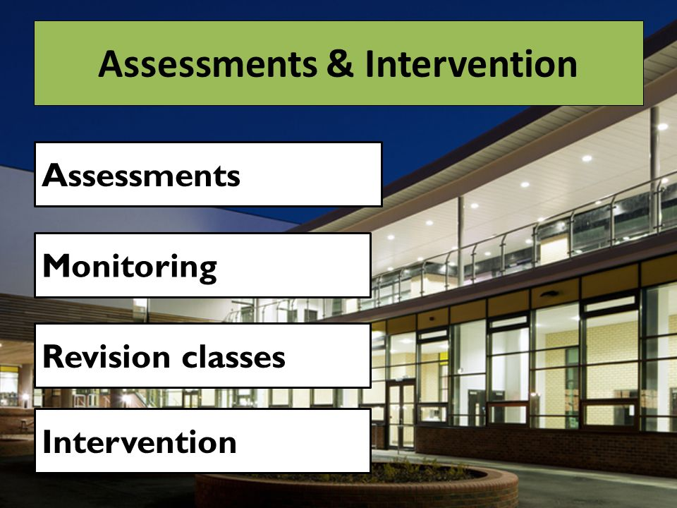 Assessments & Intervention