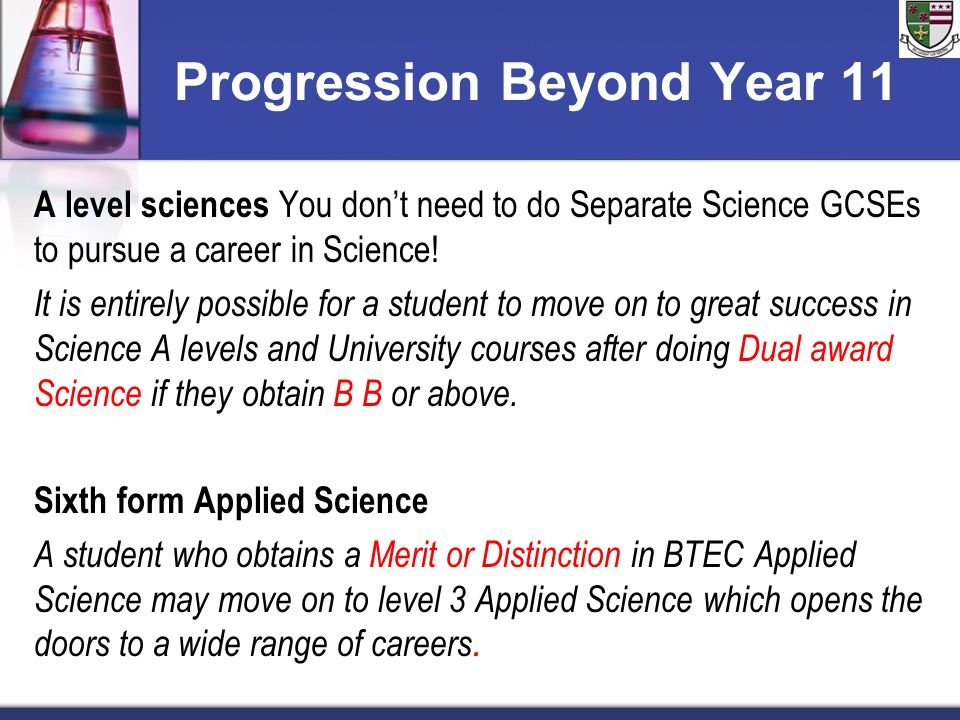Progression Beyond Year 11