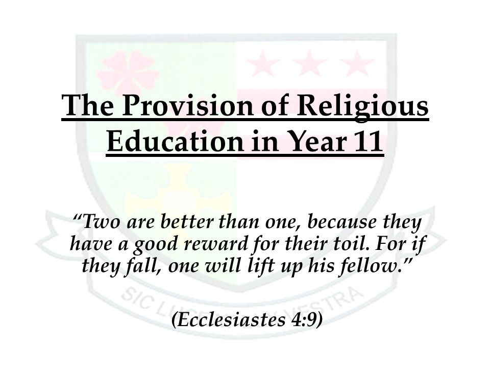 The Provision of Religious Education in Year 11