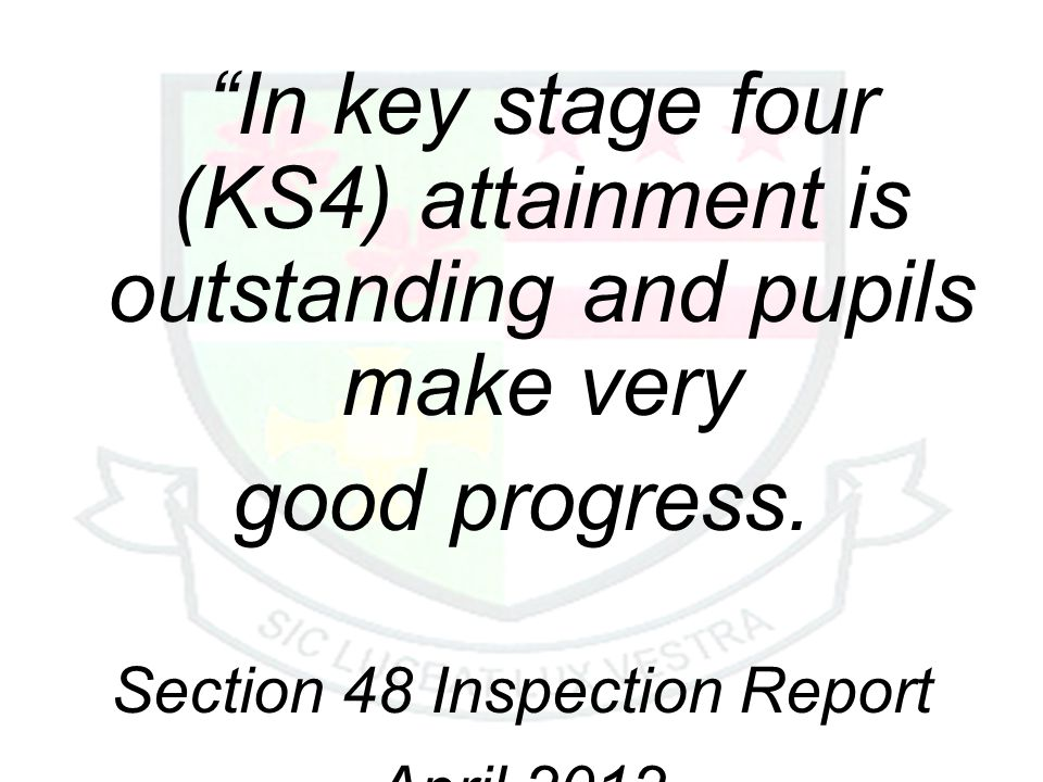 Section 48 Inspection Report