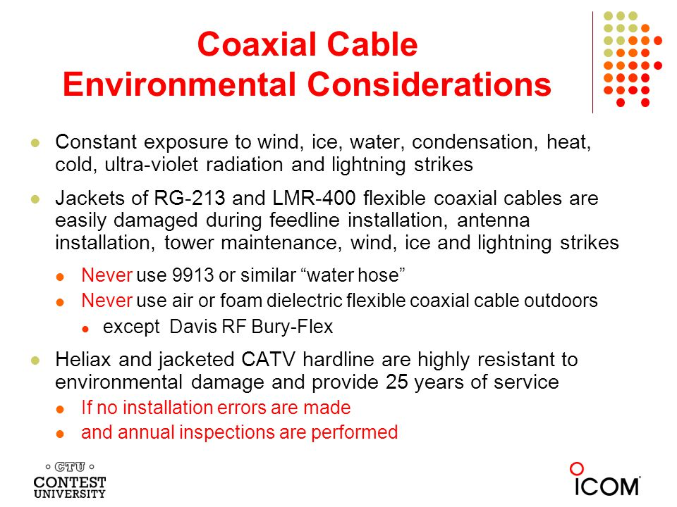 Coaxial Cable Environmental Considerations