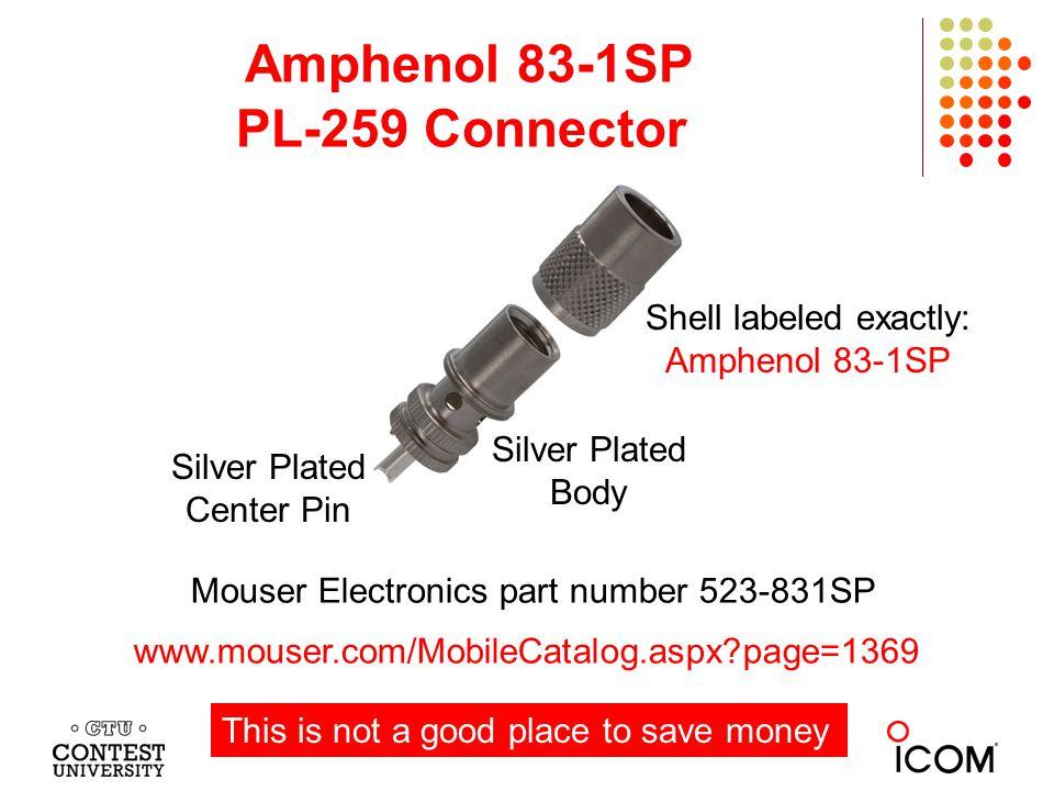 Amphenol 83-1SP PL-259 Connector