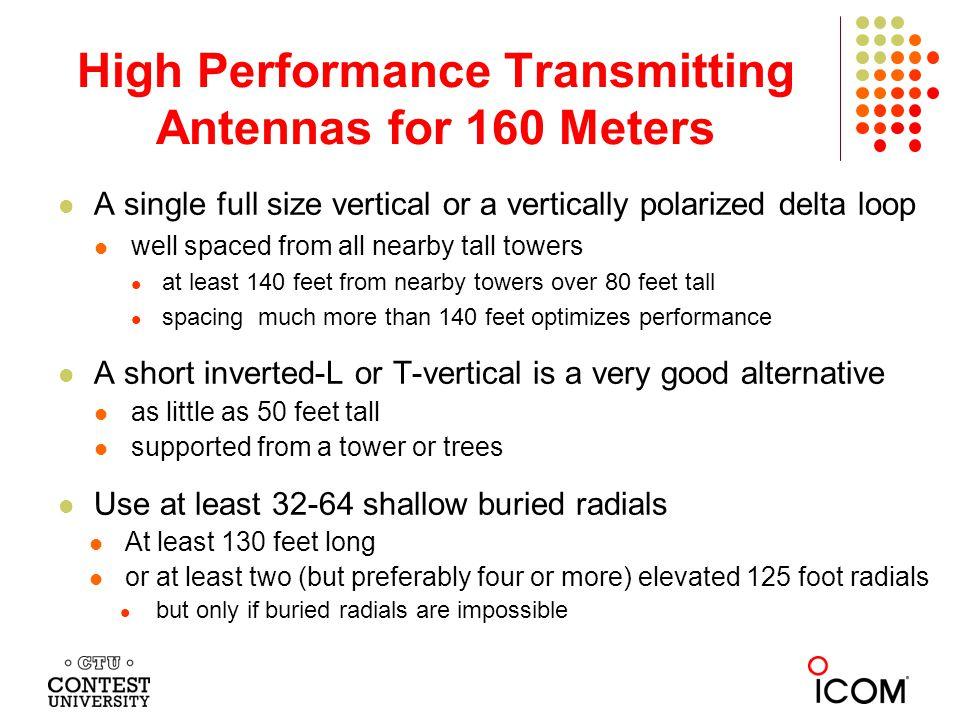 High Performance Transmitting Antennas for 160 Meters