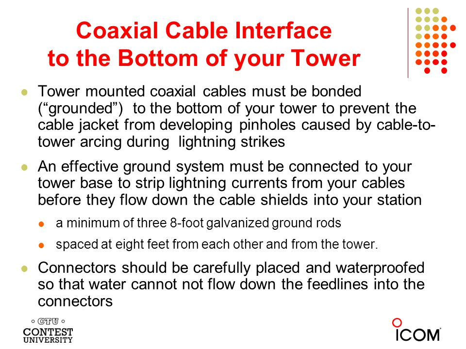 Coaxial Cable Interface to the Bottom of your Tower