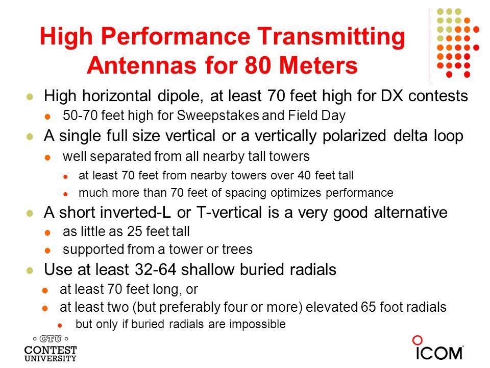 High Performance Transmitting Antennas for 80 Meters