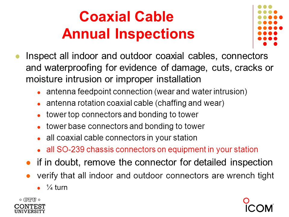 Coaxial Cable Annual Inspections