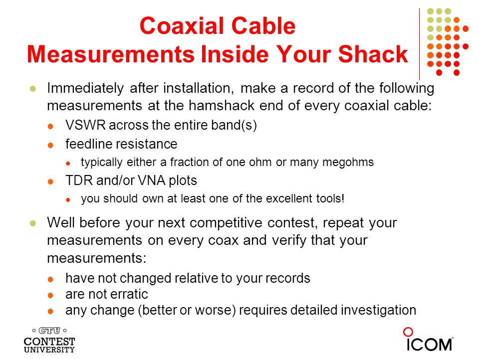 Coaxial Cable Measurements Inside Your Shack