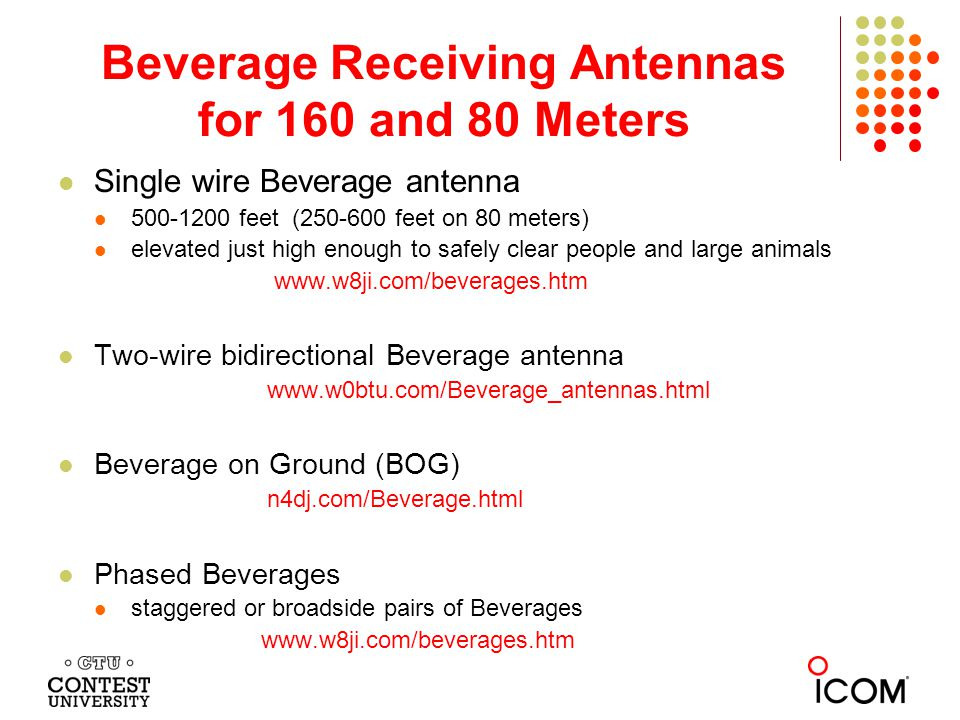 Beverage Receiving Antennas for 160 and 80 Meters