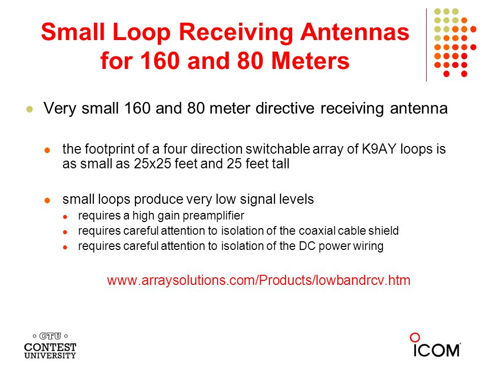 Small Loop Receiving Antennas for 160 and 80 Meters