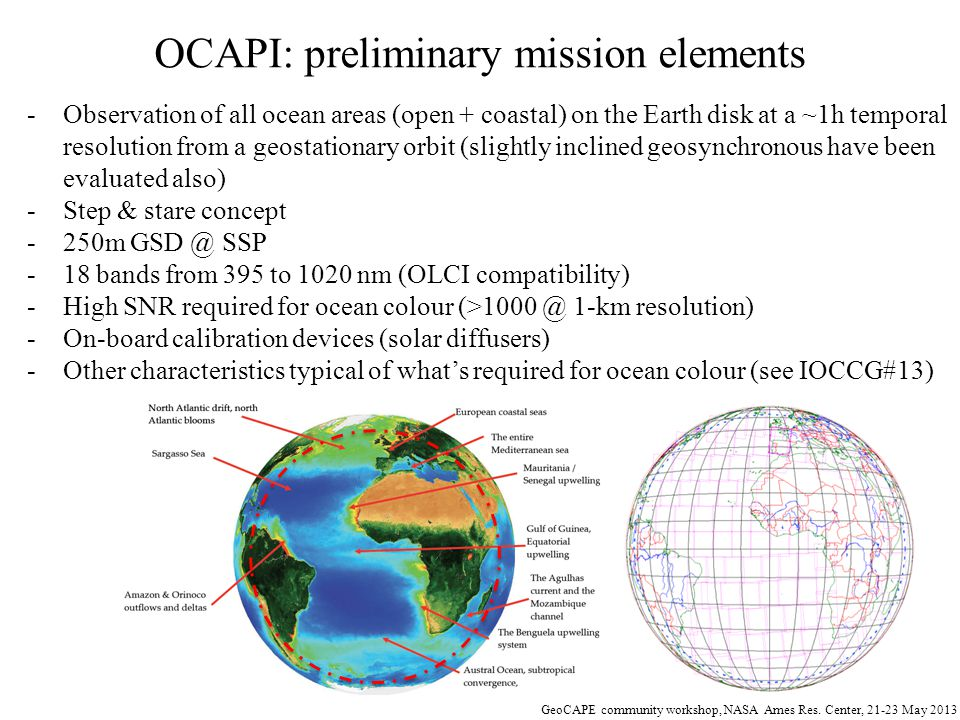 OCAPI: preliminary mission elements