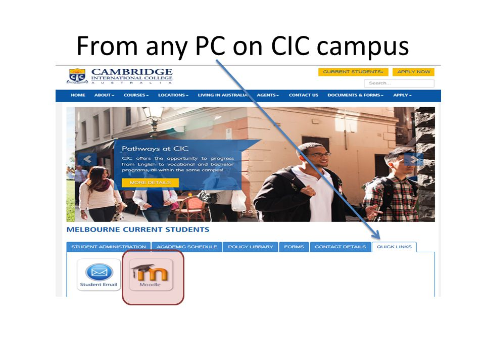 From any PC on CIC campus