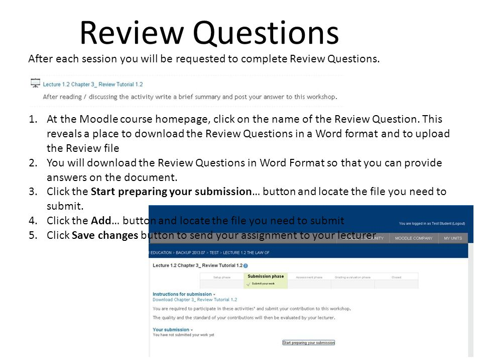 4/7/2017 10:47 AM Review Questions. After each session you will be requested to complete Review Questions.