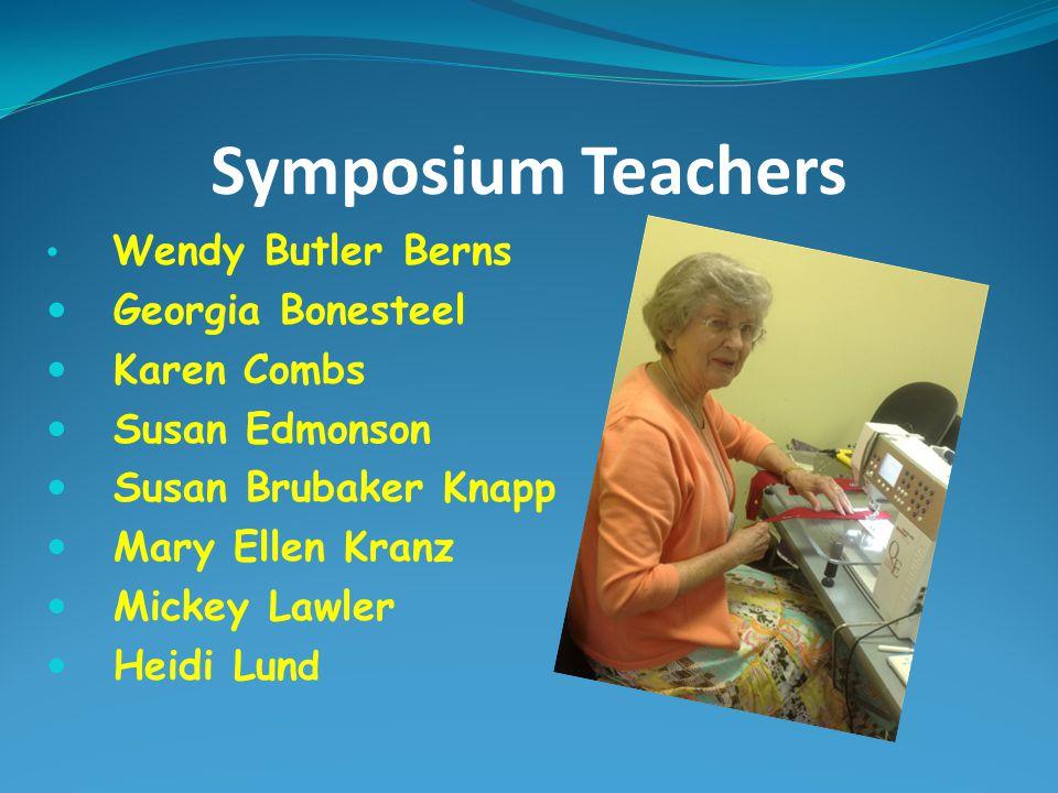 Symposium Teachers Georgia Bonesteel Karen Combs Susan Edmonson