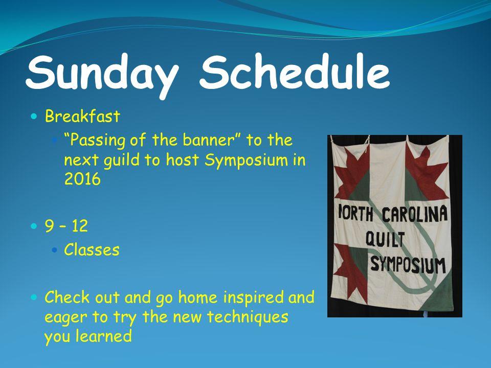 Sunday Schedule Breakfast