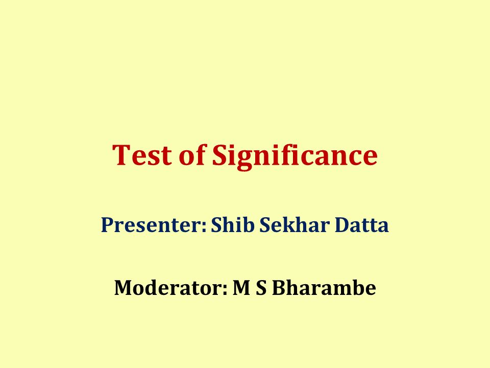 Presenter: Shib Sekhar Datta Moderator: M S Bharambe