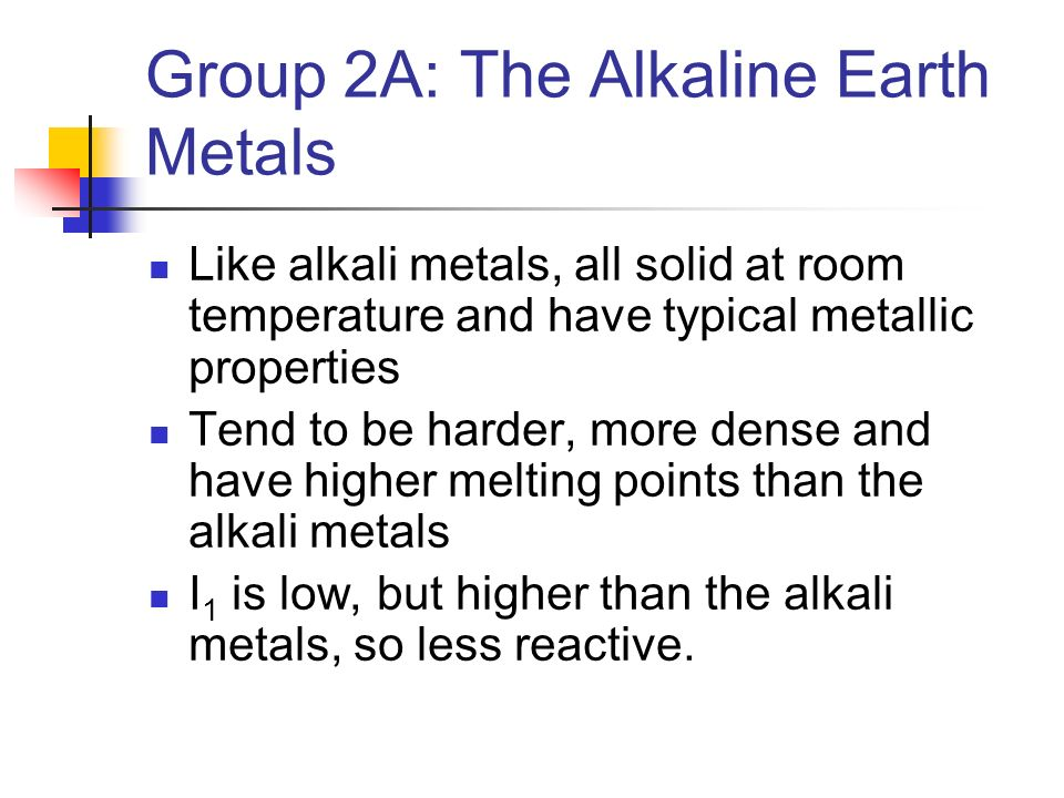 Chapter 7 periodic properties of the elements ppt video online group 2a the alkaline earth metals urtaz